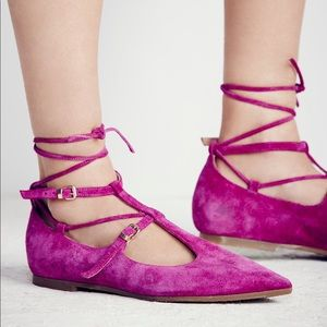 Free People Isabelle Lace Up Flats [NEW] size 37